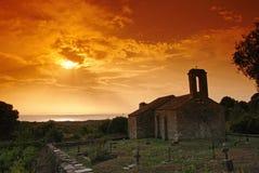教堂可西嘉岛 免版税库存图片