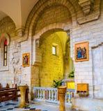教堂在教会里 免版税库存照片