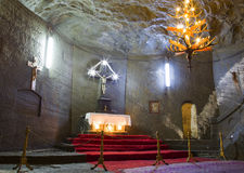 教堂在盐矿 免版税库存照片