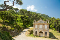 教堂在盖帽Corse的圣诞老人露西娅在可西嘉岛 库存照片