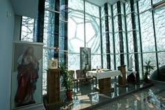 教堂在真福加尔各答的德肋撒纪念议院在斯科普里 库存图片