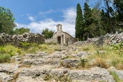教堂在赫瓦尔岛镇克罗地亚 库存照片