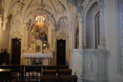 教堂在金塔da Regaleira在辛特拉,葡萄牙 库存图片