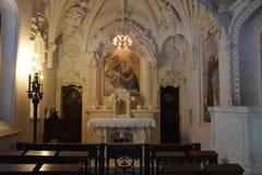 教堂在金塔da Regaleira在辛特拉,葡萄牙 免版税库存照片