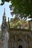 教堂在金塔da Regaleira在辛特拉,葡萄牙 库存照片