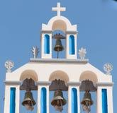 教堂在Akrotiri -圣托里尼-希腊 免版税库存图片