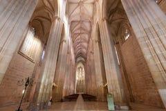 教堂在Batalha修道院里  免版税库存图片