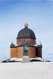 教堂在Radhost的冬天 免版税库存照片