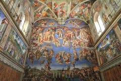 教堂壁画米开朗基罗sistine梵蒂冈 免版税库存图片