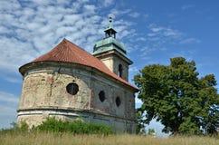 教堂废墟在Libechov 免版税库存照片