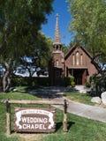 教堂拉斯维加斯婚礼 库存图片