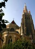 教堂接近  图库摄影