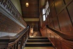 教堂有历史的老楼梯 图库摄影