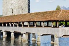 教堂桥梁在卢赛恩 库存图片