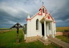 教堂海岛意大利语orkney 免版税图库摄影
