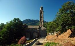 教堂热那亚人的可西嘉岛 免版税图库摄影