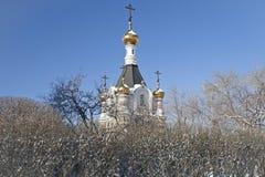 教堂的上部 免版税库存图片