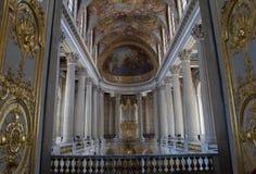 教堂的内部Château的de凡尔赛,法国 库存照片