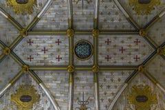 教堂的天花板 免版税库存照片