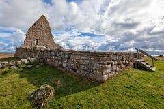教堂的废墟致力了圣徒比吉塔 免版税库存照片