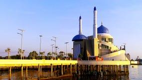 教堂穆斯林在市望加锡 库存图片