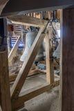 教堂钟在镇教会拜罗伊特里 免版税库存照片