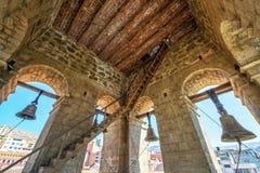 教堂钟塔在拉巴斯 库存照片