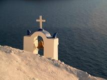 教堂钟, Oia,圣托里尼 免版税库存图片