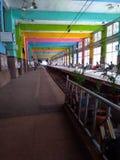 教堂门驻地平台孟买印度铁路 免版税库存图片