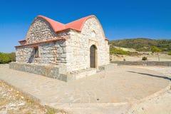 教堂,罗得岛海岛,希腊 免版税库存照片