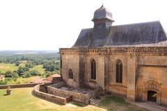 教堂chateau de biron,多尔多涅省法国 库存图片