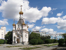 教堂ekaterina了不起的受难者圣徒 库存照片
