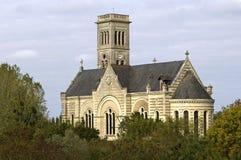 教堂Notre贵妇人duMarillais, Le Vieux布尔格 库存图片