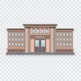 教学楼传染媒介例证 免版税库存照片