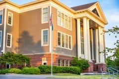 教学楼前面  图库摄影