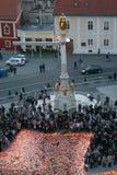 教宗若望保禄二世的葬礼在萨格勒布,克罗地亚 库存照片