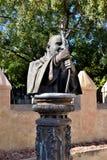 教宗若望保禄二世的雕象 免版税库存图片