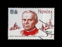 教宗若望保禄二世(亦称保佑的若望保禄,若望保禄伟大),大约2001年 库存照片