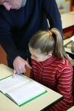 教室女孩年轻人 免版税库存图片