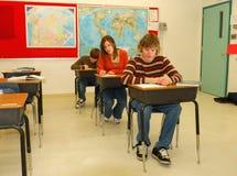 教室高中 免版税图库摄影