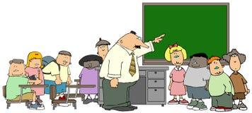 教室 库存例证