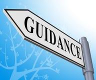 教导标志意味忠告和支持3d例证 皇族释放例证