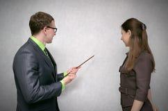 教师和学员 免版税图库摄影