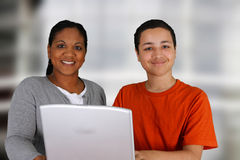教师和学员 免版税库存图片