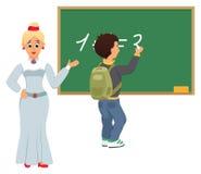 教师和学员 库存例证