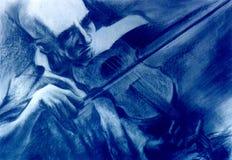 教师小提琴 免版税库存照片