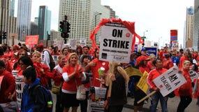 教师罢工芝加哥B 库存图片