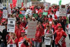 教师罢工芝加哥J 库存照片