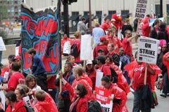 教师罢工芝加哥N 库存照片