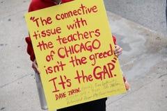教师罢工芝加哥O 库存图片